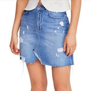 Free People Hallie Denim Skirt